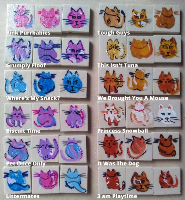 photo of 12 cat magnet sets